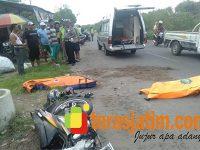 Tabrak Dump Truk di Jabon Sidoarjo, 2 Pria asal Gempol Tewas Seketika