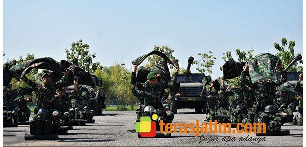Jelang Latgab TNI 2019, Armed 12/Divif-2/Kostrad Gelar Pasukan dan Alutsista
