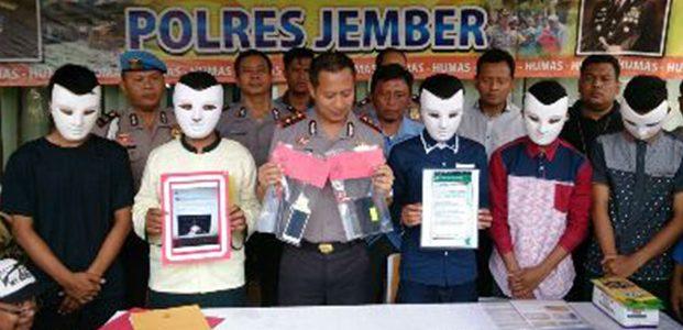 Polisi Tangkap 5 Remaja Penghasut Bentrokan Suporter Bola dan Pesilat di Jember