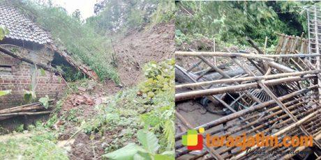 Longsor Hantam 6 Rumah Warga di Mojo Kediri