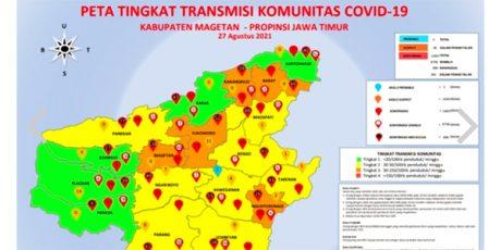 Angka Kasus Covid-19 di Kabupaten Magetan Masih Tinggi