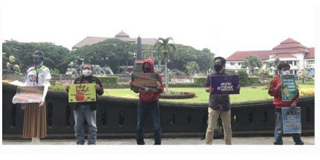 Kecam Kekerasan Aparat, Jurnalis di Malang Raya Gelar Aksi