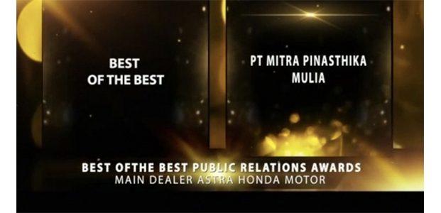 MPM Honda Jatim Kembali Raih Best Of The Best Public Relation Honda Award