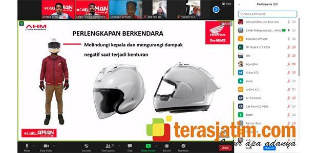 Pentingnya Helm, Dibahas Dalam Webinar Safety Riding Bersama Komunitas CB150 Surabaya