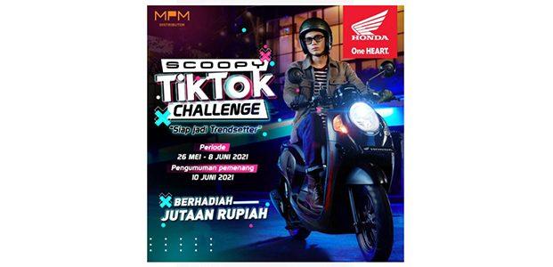 Tantang Kreativitas Anak Muda, MPM Honda Jatim Gelar Scoopy Tik Tok Challenge