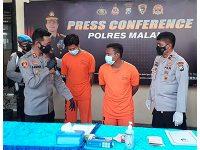 2 Pegawai Kontrak, Curi 10 Batang Rel di Jalur Kepanjen Malang