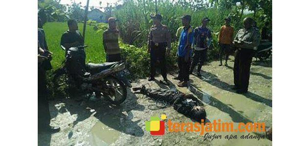 Maling Motor di Malo Bojonegoro Tewas di Tengah Jalan