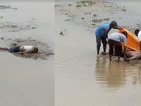 Mayat Pria Tanpa Identitas Tergeletak di Tepi Sungai Bengawan Solo