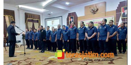 Mayjen TNI (Purn) Istu Hari Subagio Resmi Pimpin Perbakin Jatim