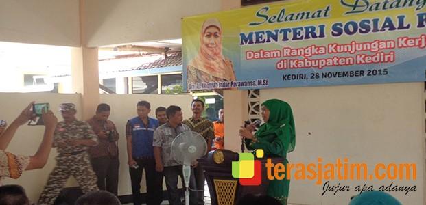 Kunjungan Kerja Menteri Sosial RI di Kabupaten Kediri