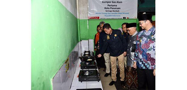 Menteri ESDM Resmikan Jaringan Gas Kota Pasuruan