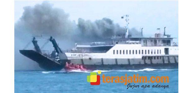 Berlayar Menuju Banyuwangi, KMP Labitra III Terbakar di Selat Bali