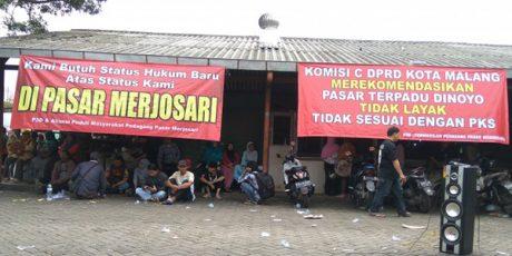 Meski Ada Penolakan, Relokasi Pedagang Pasar Merjosari ke Pasar Dinoyo Tetap Dilakukan