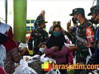 Dalam Sehari, Danrem Blusukan ke 3 Pasar di Malang