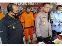 Komplotan Pengedar Ganja di Malang Selatan Dibekuk
