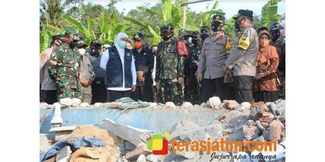Kunjungi Tirtoyudo Malang, Forkopimda Jatim Bangun Rumah Warga Korban Gempa