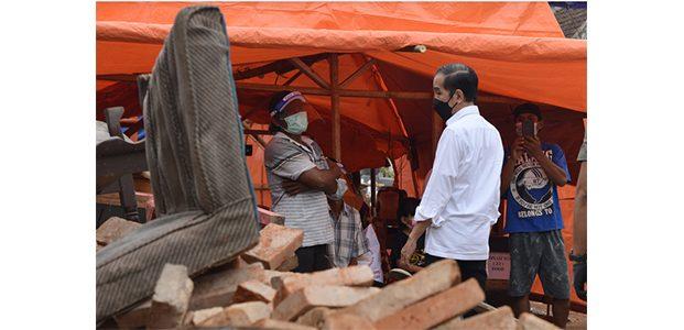 Kunker di Jatim, Presiden Juga Tinjau Lokasi Terdampak Gempa di Dampit Malang