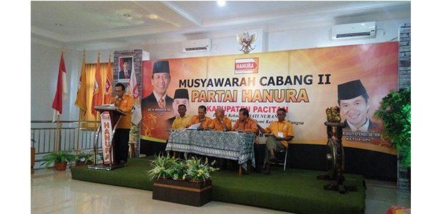 Muscab II Partai Hanura Kabupaten Pacitan, Nur Sigit Efendi Terpilih Sebagai Ketua