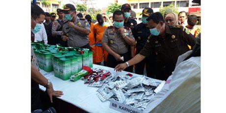 Narkoba Senilai Rp 27 M, Dimusnahkan Polda Jatim