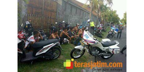 Nekat Balap Liar di Jalan Raya, Belasan Pemuda di Bojonegoro Digaruk Polisi