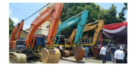 Operasi Tambang Ilegal di Jombang dan Sampang, Tim Gabungan Sita 3 Alat Berat