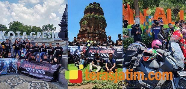 Pecinta Honda PCX dan ADV 150 Ikuti City Ride Serentak di 4 Kota