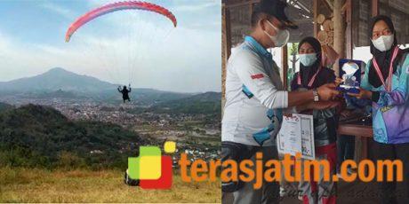 Atlet Pacitan Sabet Juara 1 Kejuaraan Paragliding TROI di Sumedang Jabar