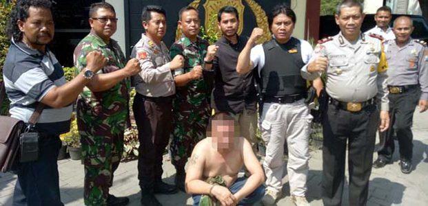 Palak Sopir Truk, Pecatan TNI di Mojokerto Dibekuk