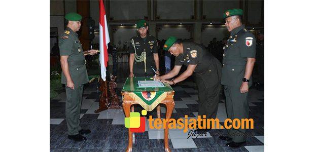 Pangdam Brawijaya Pimpin Pergantian Jabatan Sejumlah Kolonel