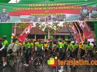 Pangdam Ikuti Gowes Korps Perhubungan TNI-AD di Malang