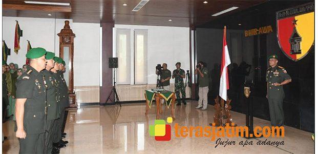 Pangdam Pimpin Sertijab Sejumlah Pejabat di Lingkungan Kodam V Brawijaya