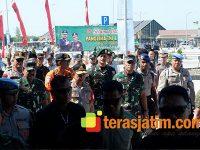 Panglima TNI dan Kapolri Tinjau Arus Mudik di Jalan Tol Ngawi