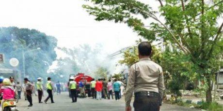 Penertiban Pedagang di Lahan Pemerintah, Mobil Satpol PP Banyuwangi Nyaris Dibakar