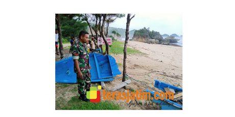 Perahu Digulung Ombak di Pantai Kasap Pacitan, Satu Orang Nelayan Hilang
