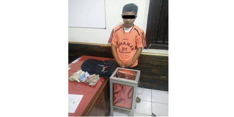 Perut Lapar Tak Punya Uang, Pemuda asal Tulungagung Bobol Kotak Amal Mushala di Prigen