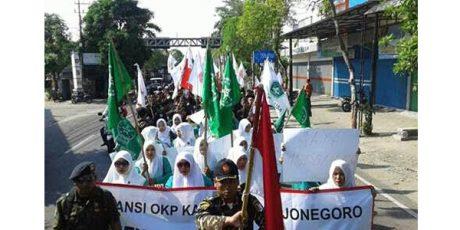 Peserta Aksi Pembubaran HTI di Bojonegoro, Tuding Sejumlah Partai Adalah Pendukung HTI