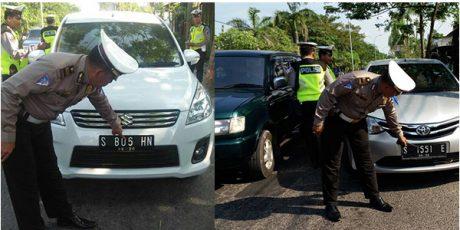Polisi Bojonegoro Tindak Tegas Kendaraan yang Memakai Plat Nomor Modifikasi