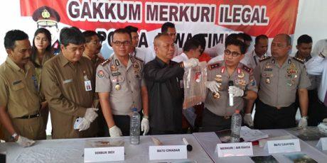 Polda Jatim Amankan 1,7 Ton Merkuri Ilegal dari Wilayah Kenduruan Tuban