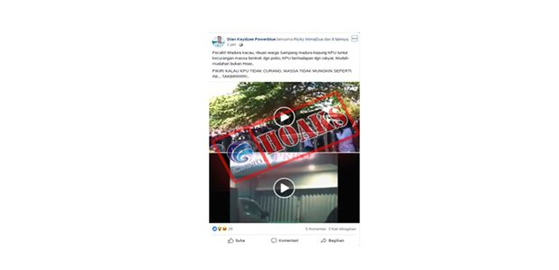 Polisi Buru Penyebar Video Hoaks 'Bentrokan di Kantor KPU Sampang'