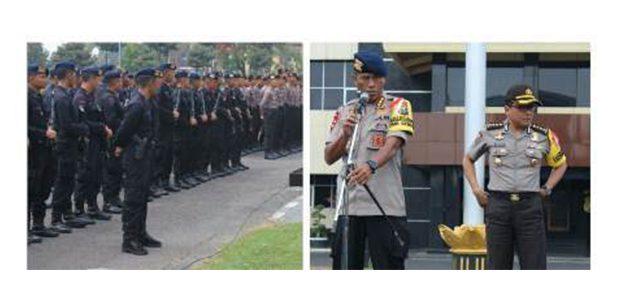 700 Anggota Brimob Polda Jatim Amankan Pilkada Ulang di Sampang