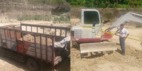 Polisi Gerebek Aktivitas Penambangan Tanah Urug di Kedung Adem Bojonegoro