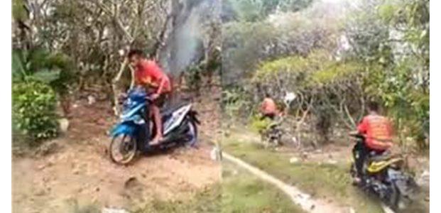 Polisi Selidiki Aksi 2 Remaja di Pasuruan Yang Tengah Balapan Motor di Atas Kuburan