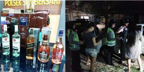 Polisi Sumbersari Jember Amankan 2 Pasang Muda Mudi dan Puluhan Botol Miras