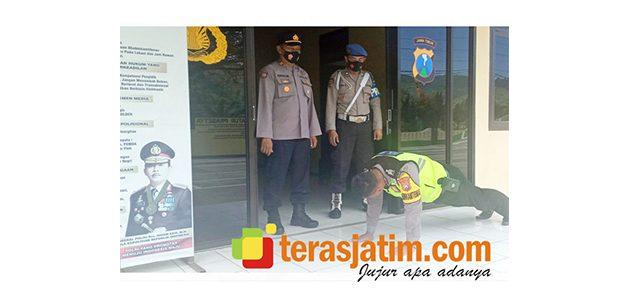Polisi di Pacitan Gelar Operasi Penggunaan Masker di Internalnya