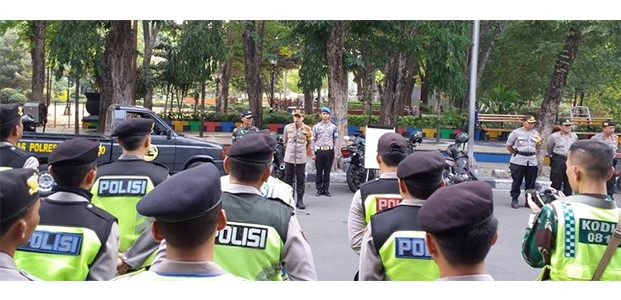 Polres Bojonegoro Gelar Apel Pengamanan Pengesahan Warga Baru PSHT
