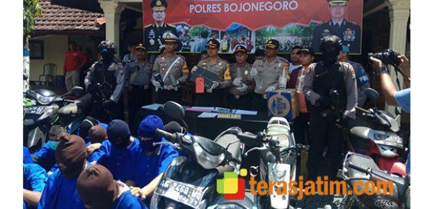 Polres Bojonegoro Rilis Sejumlah Kasus Sepanjang 2017