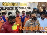 Operasi Tumpas Narkoba, Polres Jombang Kandangkan 17 Tersangka