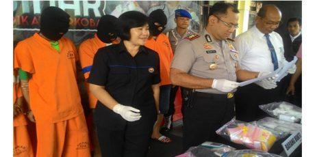 Polres Kota Malang Tangkap 4 Pengedar Narkoba