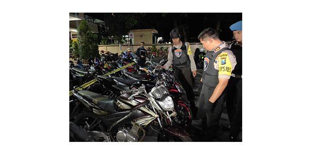 Polres Lumajang Bersih-Bersih Motor Bodong