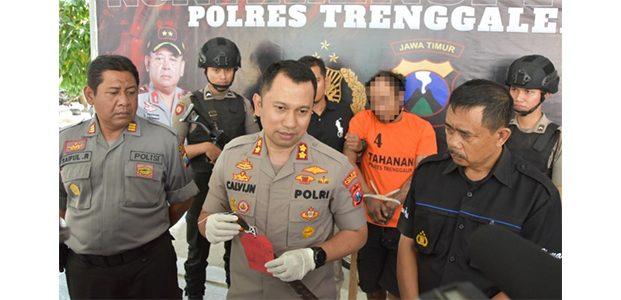 Polres Trenggalek Lumpuhkan Residivis Begal asal Tulungagung